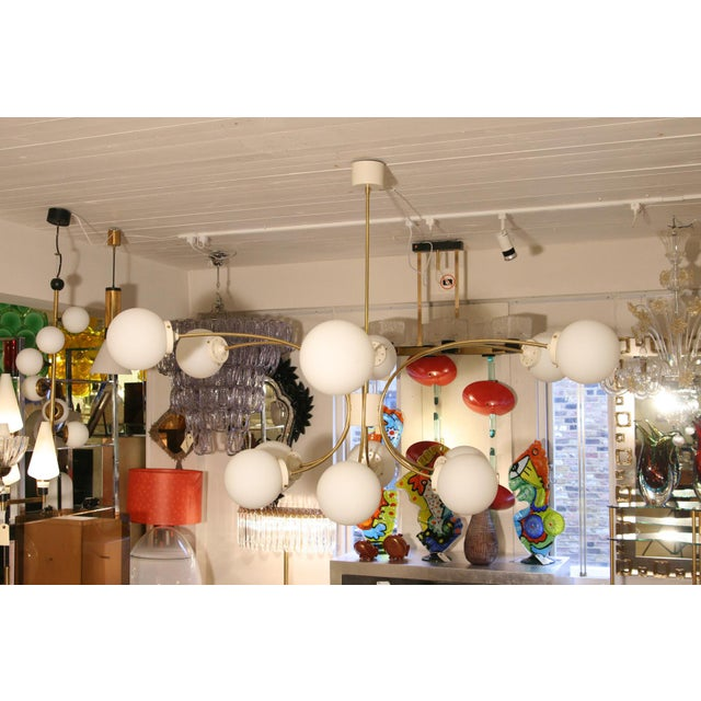 Early 20th Century Italian Design 12 Palle Chandelier For Sale - Image 5 of 6