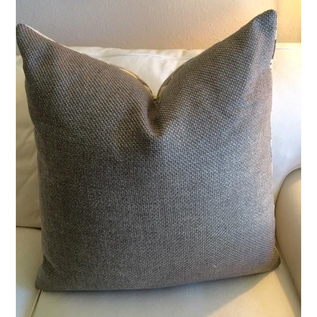 Modern Geometric Chartreuse & Gray Pillow - Image 5 of 7