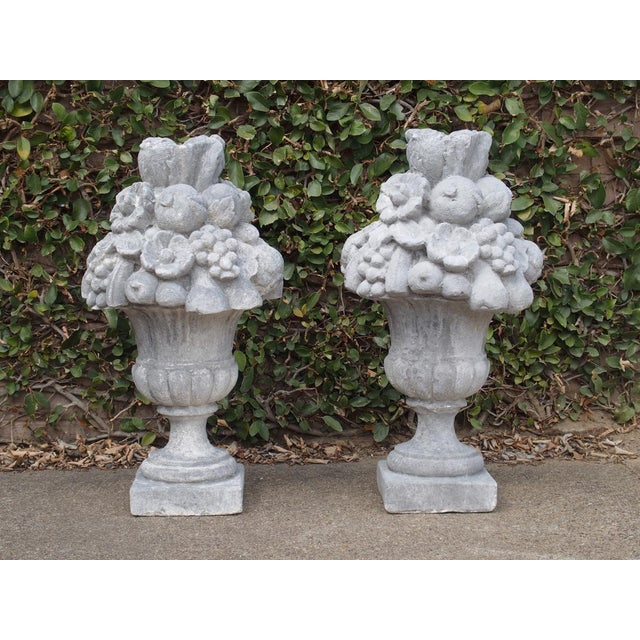 Italian Recomposed Limestone Fruit and Flower Vases (Sold Individually) For Sale - Image 10 of 13
