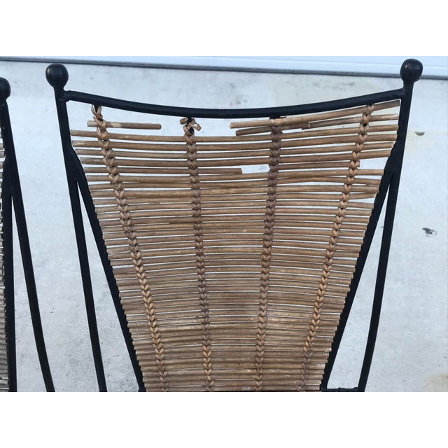 Set of 6 Mid-Century Ficks Reed Bamboo and Metal Chairs For Sale In New Orleans - Image 6 of 13
