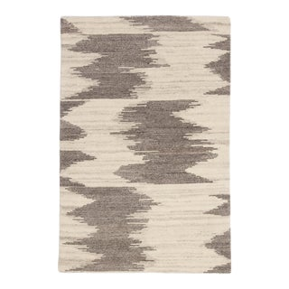 "Jaipur Living Ozark Hand-Knotted Geometric Ivory & Light Brown Area Rug - 7'9""x9'9"""