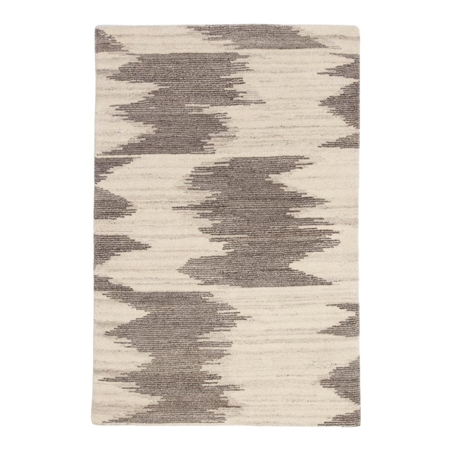 "Jaipur Living Ozark Hand-Knotted Geometric Ivory & Light Brown Area Rug - 7'9""x9'9"" For Sale"