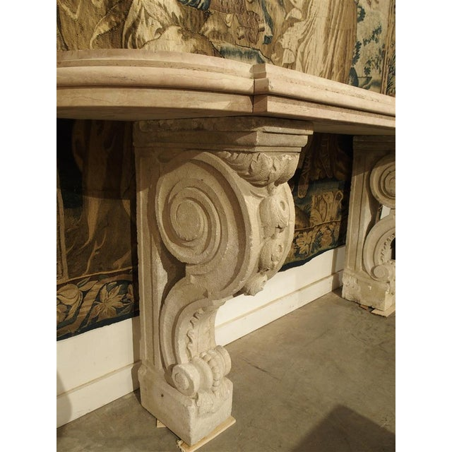 Antique Marble Top Console Table from South-East France For Sale - Image 4 of 10