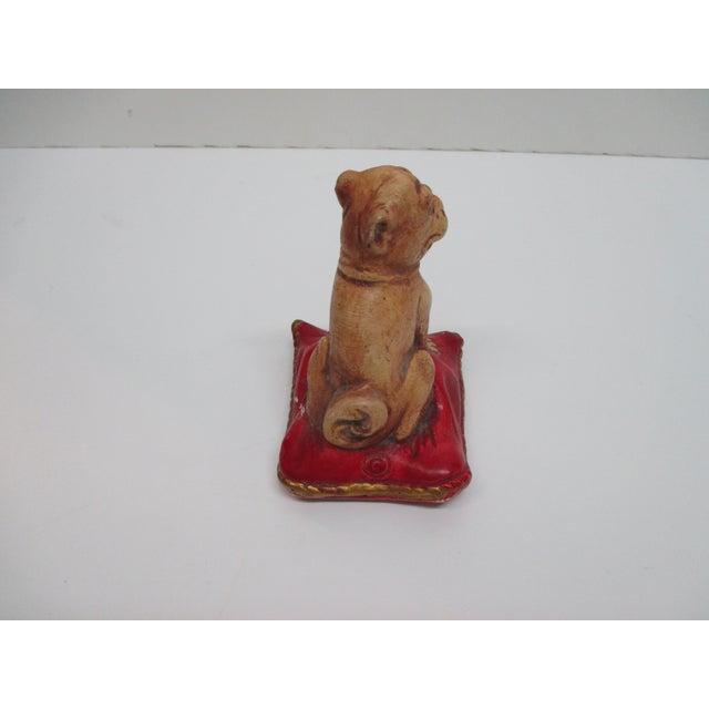 """1940's J&S Antiques Broadway Show Premium """"Life With Mother"""" Decorative Dog Stamped Size: 3 x 3 x 4"""