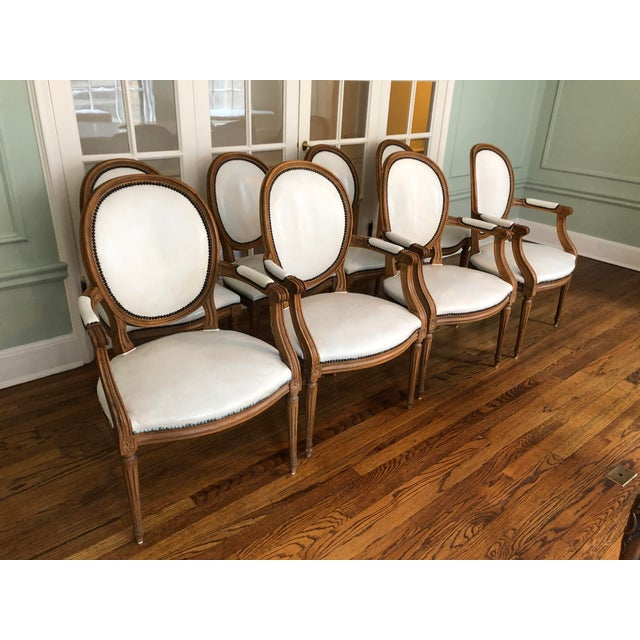 This amazing set of vintage dining chairs by Baker Furniture is from 1965 and has only had one owner. The set features...