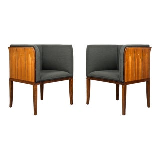 Eliel Saarinen, Pair of 'Saarinen House Arm Chairs' by Arkitektura For Sale