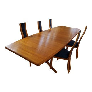 Skovby Danish Modern Teak Dining Set For Sale