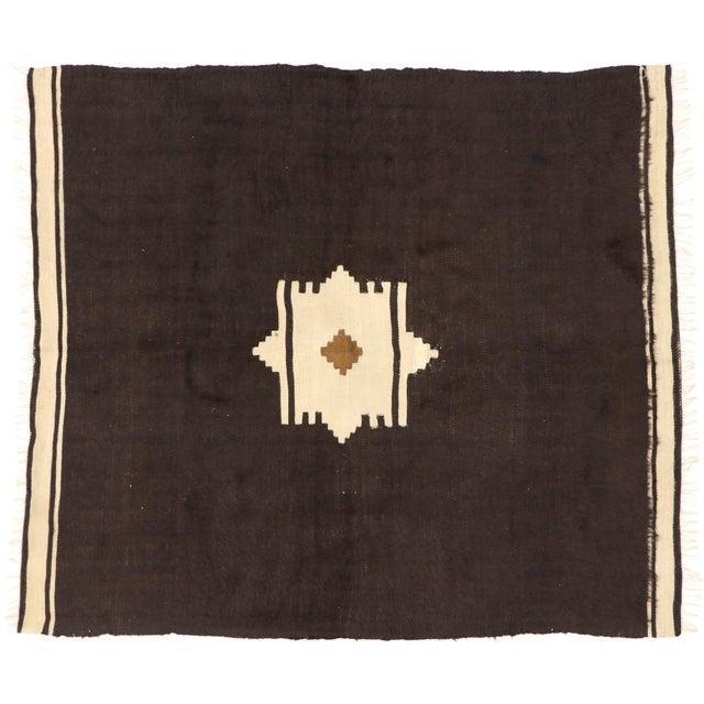 Vintage Turkish Angora Blanket Rug - 04'00 X 04'06 For Sale - Image 9 of 9