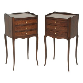 French Louis XV Style Nightstands - A Pair