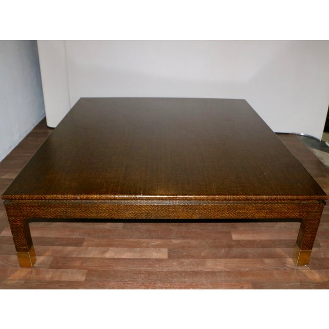 Raffia Covered Coffee Table by Harrison Van Horn For Sale - Image 11 of 11
