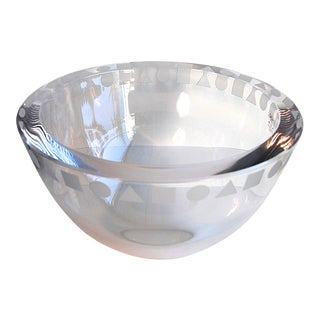 "Ward Bennett for Sasaki Sengai Crystal Bowl 8 3/4"" For Sale"