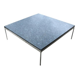 Nicos Zographos Granite Stainless Steel Coffee Table For Sale