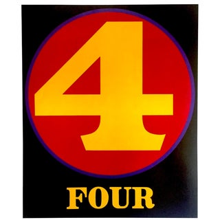 "Robert Indiana Vintage 1988 Pop Art Lithograph Calendar Print "" Number 4 "" 1964 For Sale"