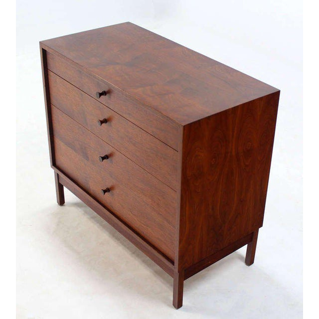Very nice Mid-Century Modern walnut chest possibly designed by George Nelson.