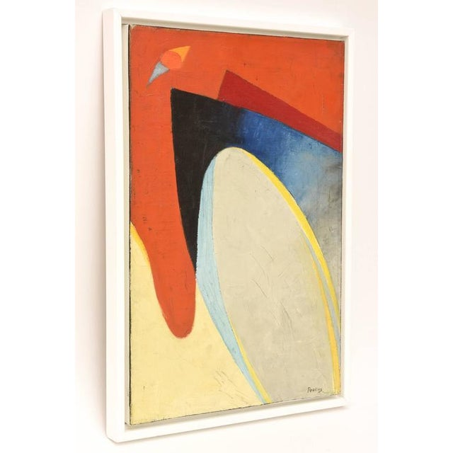 Signed Philip Perkins Vintage Cubist Painting - Image 3 of 9