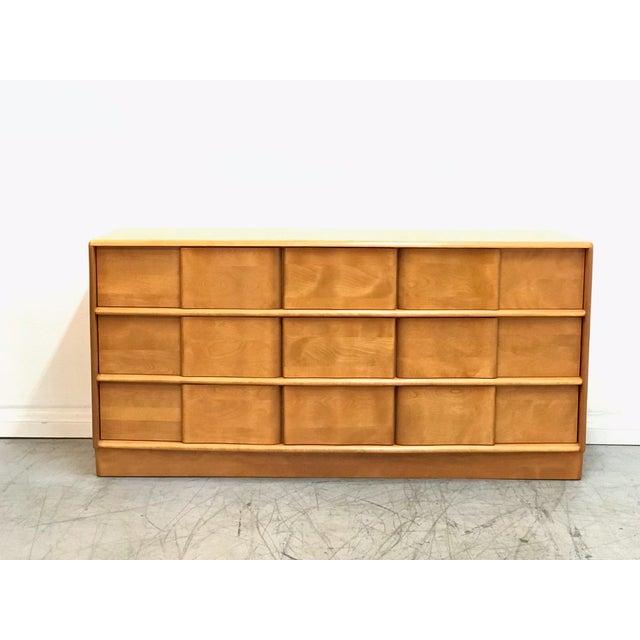 Mid-century modern newly refinished Heywood Wakefield dresser.