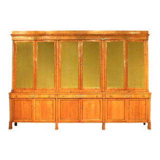 Large 19th C. Austrian Biedermeier 12 Door Cabinet For Sale