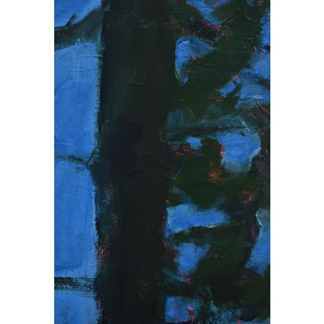 """""""Blue Punctuation"""" Abstract Painting For Sale In Providence - Image 6 of 10"""