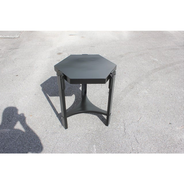 Black 1940s French Art Deco Black Ebonized Coffee Table For Sale - Image 8 of 13