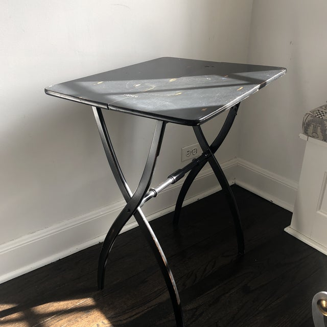 Elegantly lined, gorgeous Officer's Table. Folds up for easy portage around the battlefield or your house. Chippy, chic...