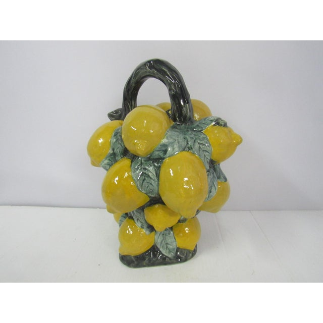 French Majolica Lemon Pitcher - Image 6 of 10