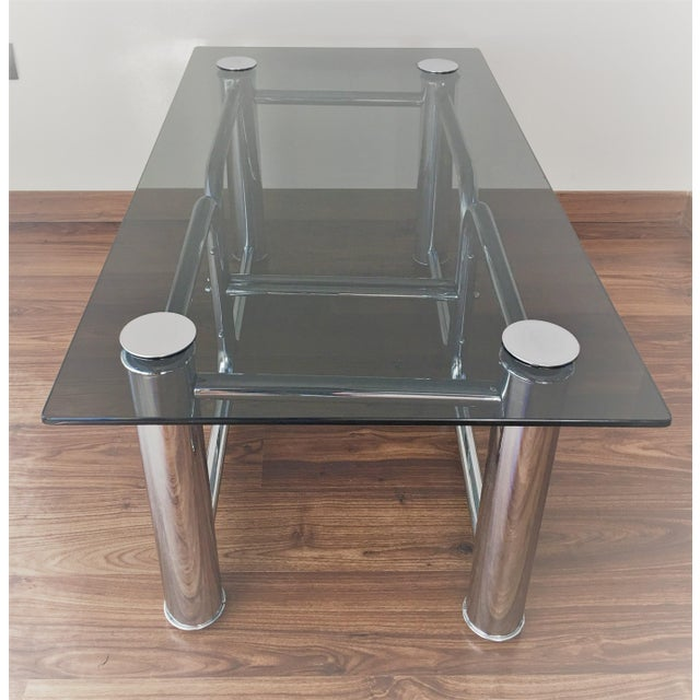 Mid-Century Modern Chrome Coffee Table - Image 6 of 11