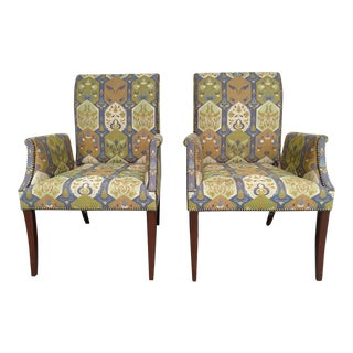 Tommi Parzinger Styled Vintage Armchairs, by Initials Furniture - a Pair For Sale