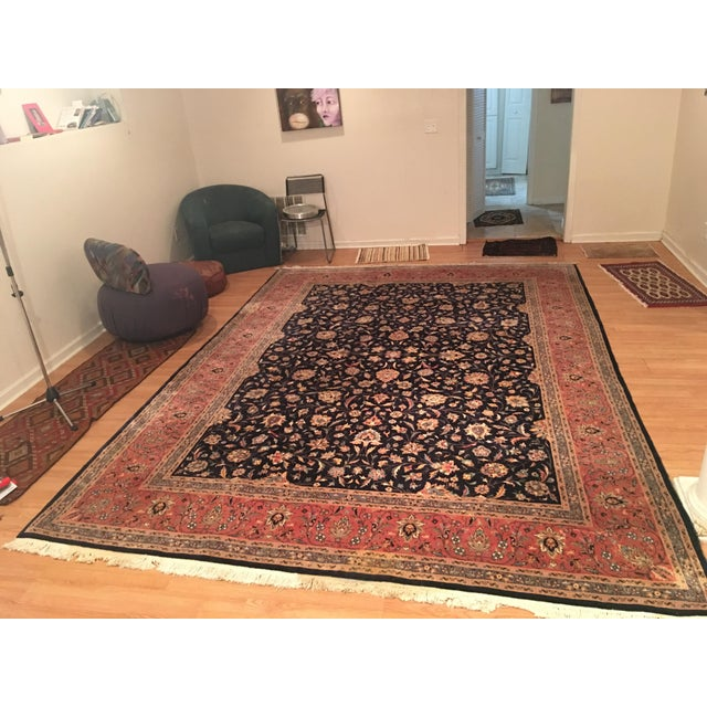 "Vintage Persian Area Rug - 9'x12'7"" - Image 2 of 11"