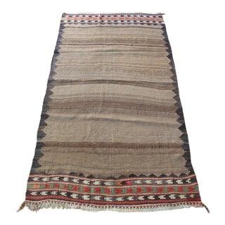 1930s Vintage Pattern Floor Kilim Rug For Sale