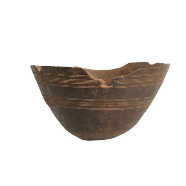 Vintage Wooden African Bowl For Sale