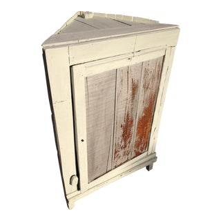 Primitive 1935 Depression Crate Kitchen Corner Cabinet For Sale