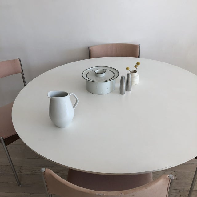 Burke 1960s White Tulip Dining Table - Image 12 of 12