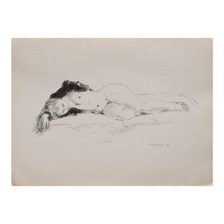 """Alexander Brook """"Sleep"""" Lithograph, 1939"""