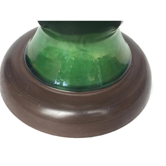 Mid-Century Pottery Lamp with Blue/Green Glaze - Image 5 of 6