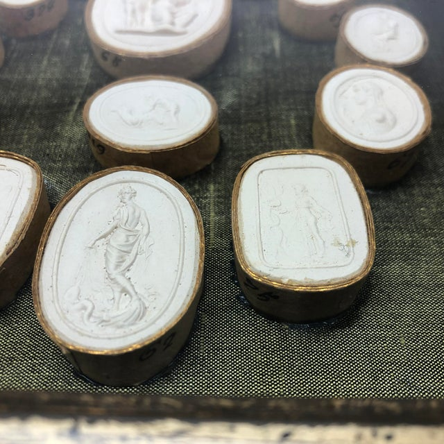 19th Century Antique Grand Tour Intaglio Sculptural Wall Objects - a Pair For Sale - Image 10 of 13