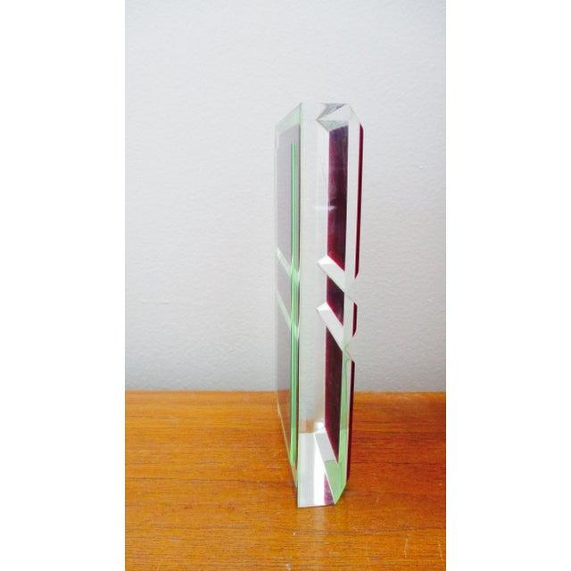 Vasa Velizar Mihich Vasa Velizar Mihich Style Lucite Paperweight Sculpture Block For Sale - Image 4 of 13