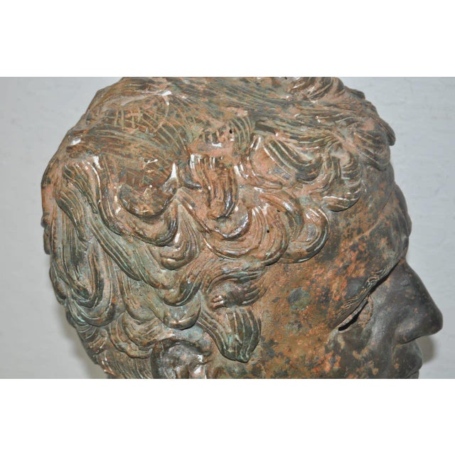 19th Century Bronze Head After Greek Antiquities For Sale - Image 4 of 10