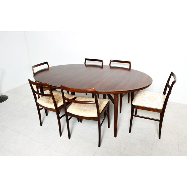 1960s Mid Century Danish Modern Rosewood Oval Dining Table by Arne Vodder for Sibast For Sale - Image 5 of 9