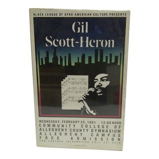 1981 Gil Scott-Heron Concert Poster