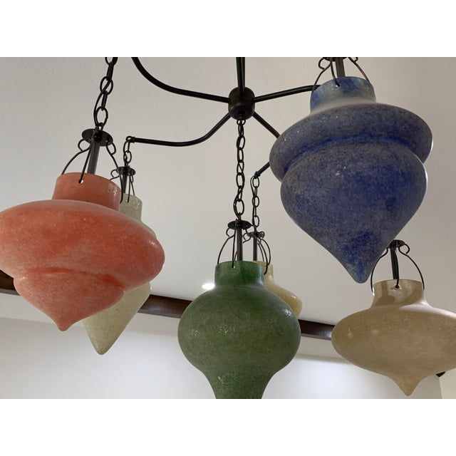 Pair of Murano Glass Chandelier CX Designs Scavo Collection For Sale In Dallas - Image 6 of 9