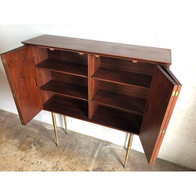 Vintage Mid-Century Modern Jack Cartwright Danish Style Highboard Credenza For Sale In Miami - Image 6 of 13