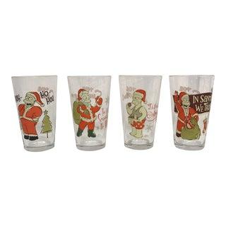 Simpsons Christmas Glasses - Set of 4