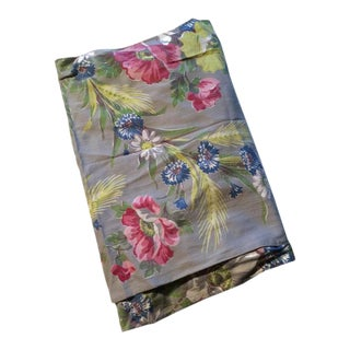 Pastel Floral Print Cotton Fabric Panels - Set of 4