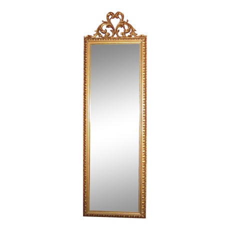Vintage Gold Scroll Hollywood Regency Mirror - Image 1 of 3