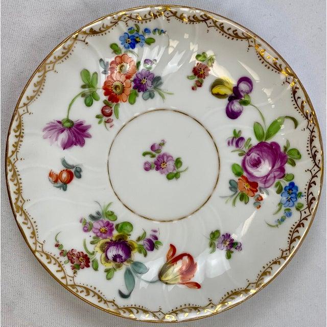 Dresden Porcelain Antique 19th Century Richard Klemm Dresden Porcelain Demitasse Cup & Saucer For Sale - Image 4 of 10