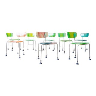 Set of 8 Gaetano Pesce '543 Broadway' Chairs For Sale