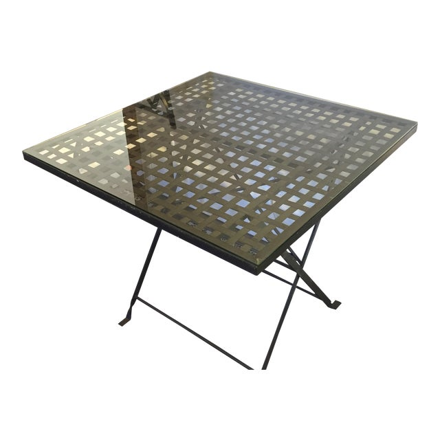 Antique Wrought Iron Table - Image 1 of 5