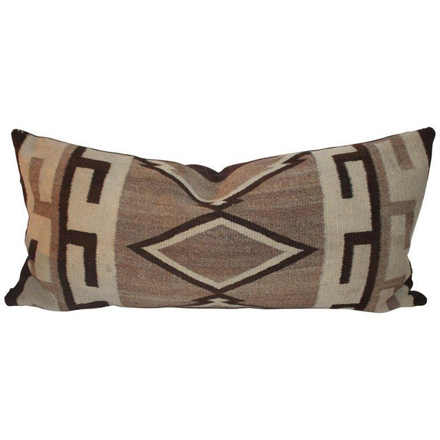Navajo Indian Weaving Diamond Bolster Pillow For Sale In Los Angeles - Image 6 of 6