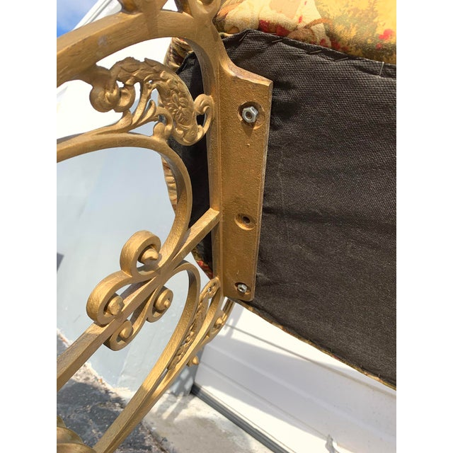 Yellow Early 20th Century French Boudoir Bench For Sale - Image 8 of 12