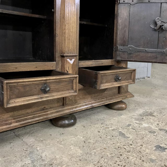 19th Century Rustic Dutch Oak Two-Tiered Buffet For Sale - Image 11 of 13